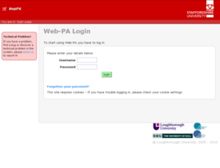 webpa.staffs.ac.uk screenshot