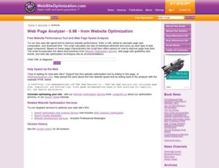 webpageanalyzer.com screenshot