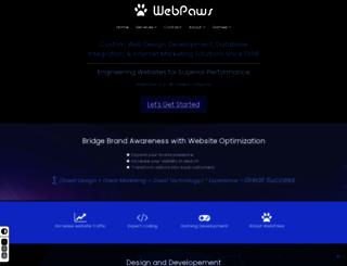 webpaws.com screenshot