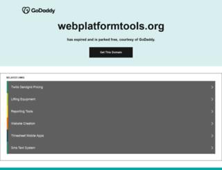 webplatformtools.org screenshot