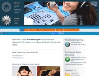 webplayershoutcast.com screenshot
