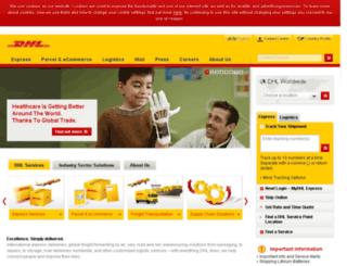 webpod.dhl.com screenshot