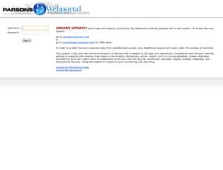 webportal.parsons.com screenshot