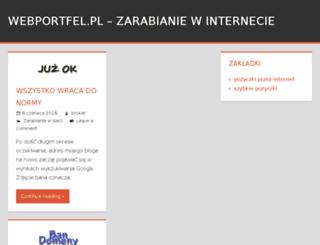 webportfel.pl screenshot