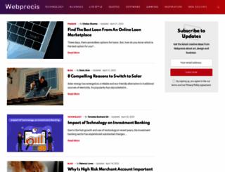 webprecis.com screenshot