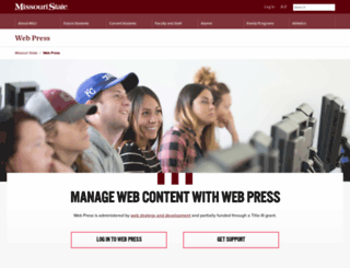 webpress.missouristate.edu screenshot