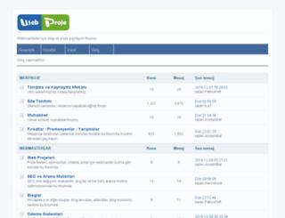 webproje.com screenshot