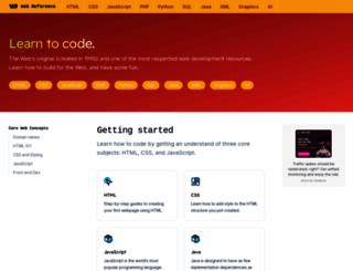 webreference.com screenshot