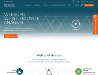 webropol.co.uk screenshot