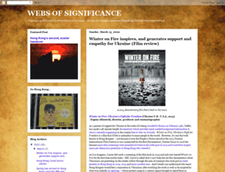 webs-of-significance.blogspot.hk screenshot