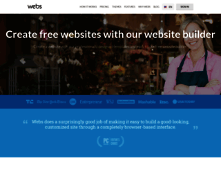 webs.com screenshot