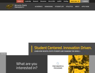 webs.wichita.edu screenshot