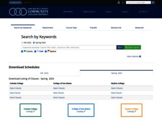 webschedule.smccd.edu screenshot