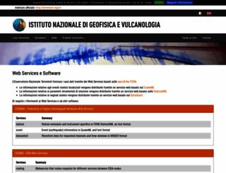 webservices.ingv.it screenshot