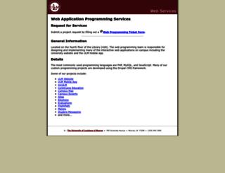 webservices.ulm.edu screenshot