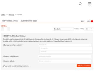webshop.kieselbach.hu screenshot
