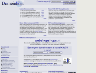 webshopshops.nl screenshot