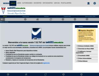 websis2.umss.edu.bo screenshot