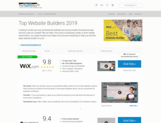 website-builders.thetop10sites.com screenshot