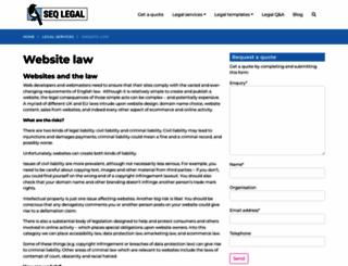 website-law.co.uk screenshot