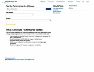website-performance.org screenshot