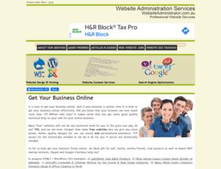 websiteadministrator.com.au screenshot