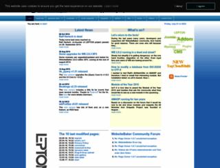 websitebakers.com screenshot