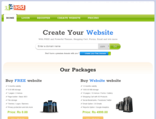 websitebuilder.a4add.com screenshot