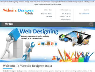 websitedesignerindia.co.in screenshot