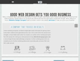 websitedesigngurgaon.com screenshot