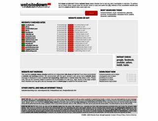 websitedown.info screenshot