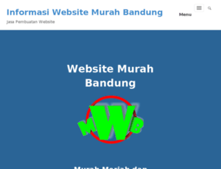 websitemurahbandung.info screenshot