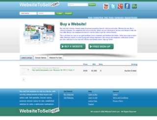 websitetosell.com screenshot