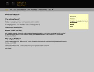 websitetutorials.grafix.gr screenshot