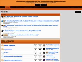 websleuths.com screenshot