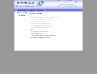 websms.co.nz screenshot