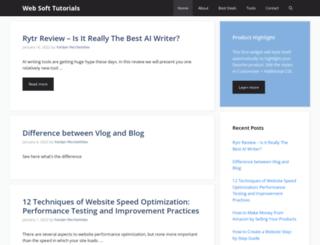 websofttutorials.com screenshot