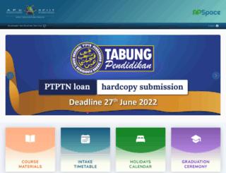 webspace.apiit.edu.my screenshot