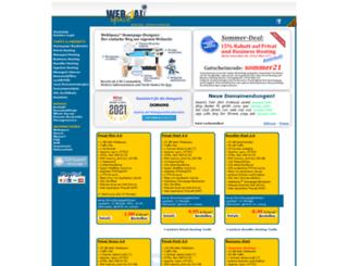 webspace4all.de screenshot