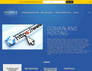webspaceforlease.com screenshot