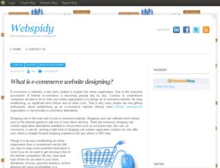 webspidy.blog.com screenshot