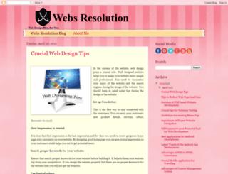 websresolution.blogspot.in screenshot