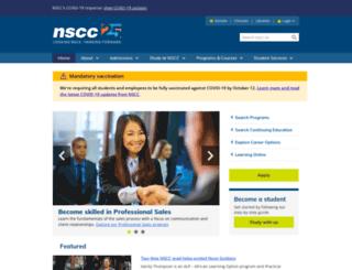 webstaging2.nscc.ca screenshot