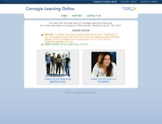 webstart.carnegielearning.com screenshot