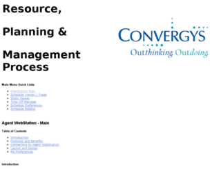 webstation.convergys.com screenshot