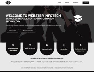 webster-infotech.com screenshot