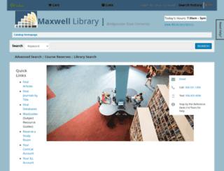 webster.bridgew.edu screenshot