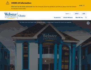 webster.edu.gh screenshot