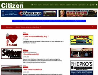 webstercountycitizen.com screenshot