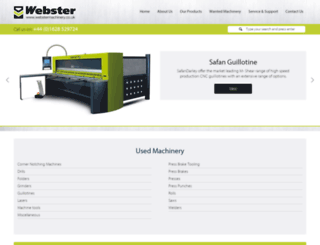 webstermachinery.co.uk screenshot